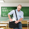 Man in classroom — Stock Photo