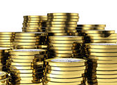3d 欧元硬币 — 图库照片