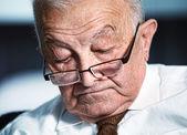 Sleeping old man — Stock Photo