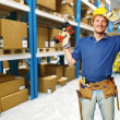 Handyman in warehouse — Stock Photo #4208767