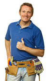 Confident handyman portrait — Stock Photo