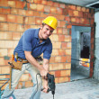 Contruction worker on duty — Stock Photo