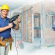 Stock Photo: Handyman at work
