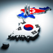 North and south korea — Stock Photo #4325548