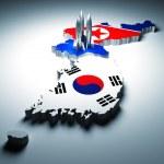 del norte y Corea del sur — Foto de Stock