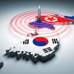 Warning zone of korea — Stock Photo