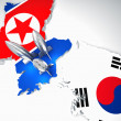 North and south korea — 图库照片