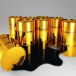 Golden barrel of oil — Stock Photo