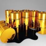 Golden barrel of oil — Stock Photo #4491947