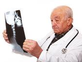 Senior doctor at work — Stock Photo