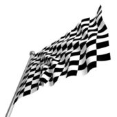 Checked start flag — Stock Photo
