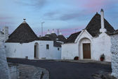 Alberobello night view — Stock Photo