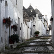 Alberobello street view — Stock Photo