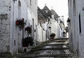 Alberobello sokak görünümü — Stok fotoğraf