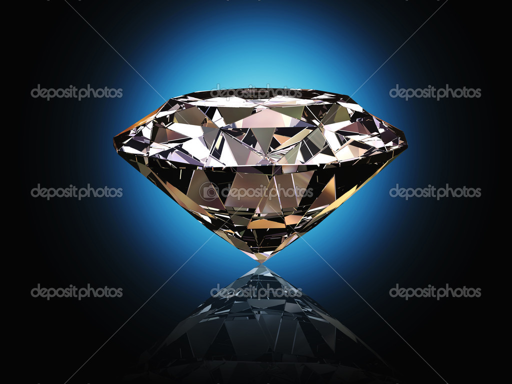Nice 3d image of classic diamond blue background — Stock Photo #4652637