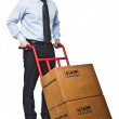 Man with handtruck — Stock Photo #4662983