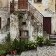 Street view in scalea italy — Stock Photo