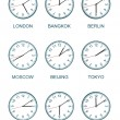 Time zone watch — 图库照片
