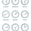 Time zone watch — Stok fotoğraf