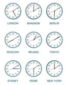 Time zone watch — Stock Photo