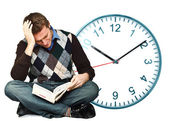 No time to study — Stock Photo
