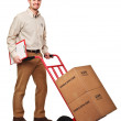 Friendly delivery man — Stock Photo #4700882