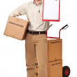 Delivery man portrait — Stock Photo