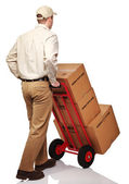 Delivery man on duty — Stock Photo
