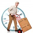 Delivery man on duty - Foto de Stock  