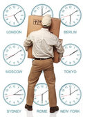 Time zone delivery — Stock Photo