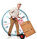Delivery man on duty — Foto Stock