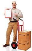 Delivery man portrait — Stock Photo