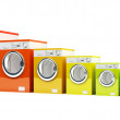 Energetic class washing machine — Stock Photo