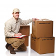 Delivery man at work — Stock Photo