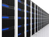 Black 3d server — Stock Photo
