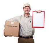 Uomo di consegna — Foto Stock