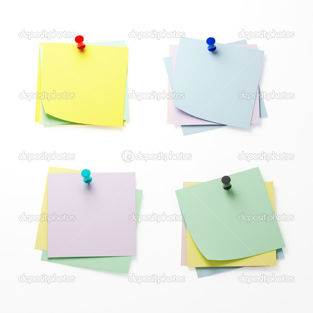 Fine 3d image of classic reminder paper on white — Stock Photo #4849967