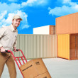 Delivery man at work - Stock Photo