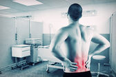Man with back problem — Stock Photo