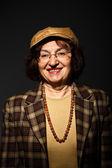 Kadın kıdemli portre — Stok fotoğraf
