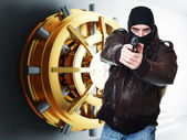 Thief at work — Stock Photo