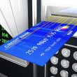Cash machine 3d - Stock Photo