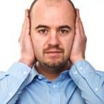 hombre sordo — Foto de Stock
