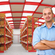 Worker in warehouse - Foto Stock