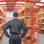 Work in warehouse — Stock Photo