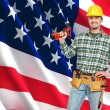 American worker portrait — Stock Photo