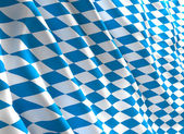 Bavaria flag 3d — Stock Photo