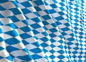 Bavyera bayrak 3d — Stok fotoğraf