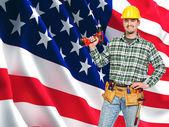 American worker portrait — Stock Photo