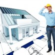 Architect  with his project - Stock Photo